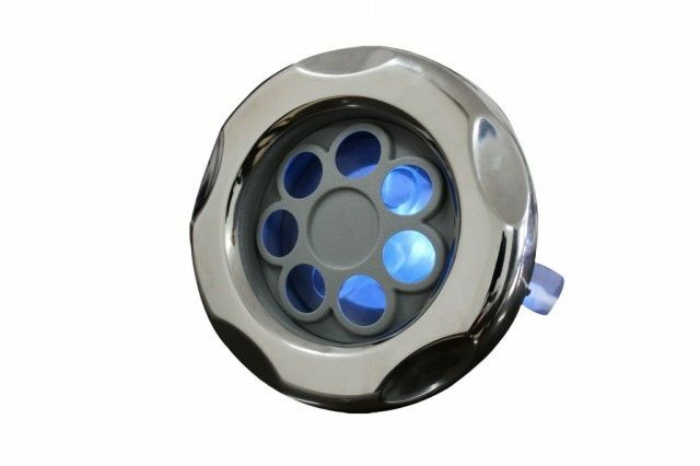 "5"" LED Pulsating Stream Massage Hot Tub Jets With Stainless Steel Cover Triangle Hot Tub Spa"