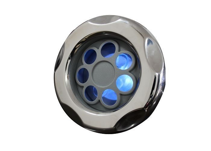 "5"" LED Style Pulsating Stream Massage Hot Tub Jets With Stainless Steel Cover For SPAS"