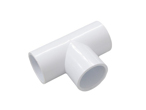 Socket Sanitary 1 1/2 Plastic Slip PVC Tee Fittings , 3 Way Pipe Connector